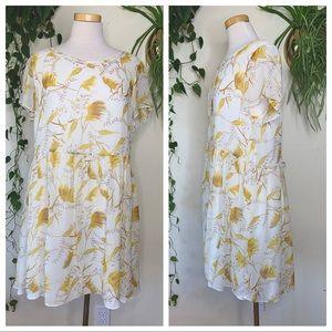 A LOVES A Silk Oversized Wheat Babydoll Dress